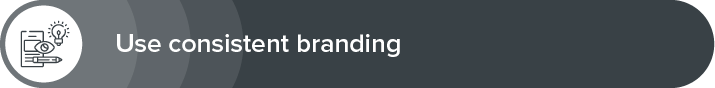 Use consistent branding to get more donations.