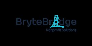 BryteBridge Nonprofit Solutions logo with blue bridge illustration