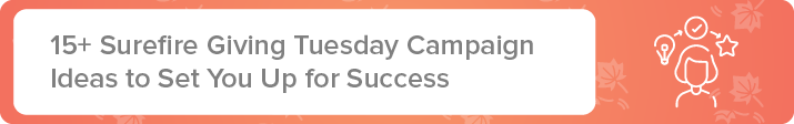 Here are some Giving Tuesday campaign ideas that will set you up for success.