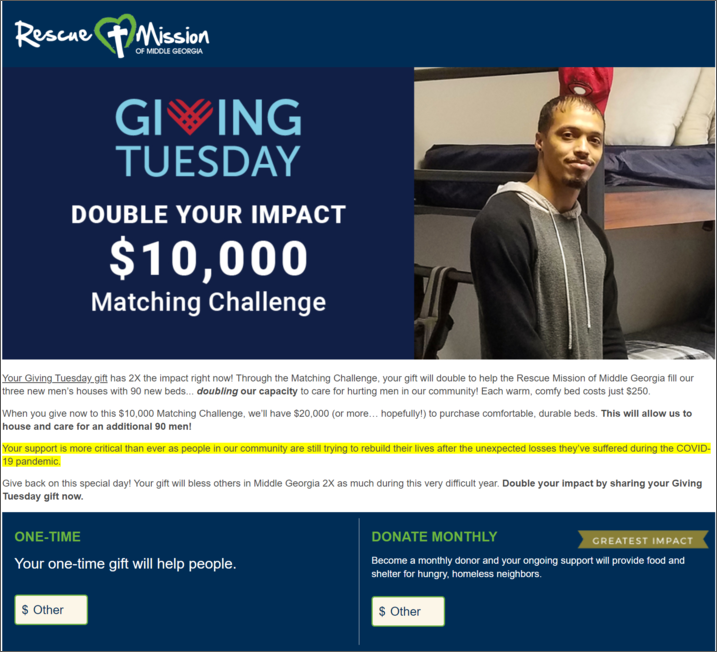 Here's how one organization brought their Giving Tuesday campaign idea, a matching gifts drive, to life.